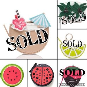 Kate Spade Coin Purse Strawberry Watermelon Lime